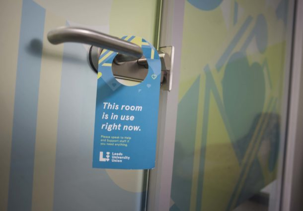 A door with a do not disturb sign from the LUU Advice team